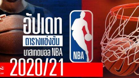อัปเดตตารางแข่งขันบาสเกตบอล NBA 2020/21